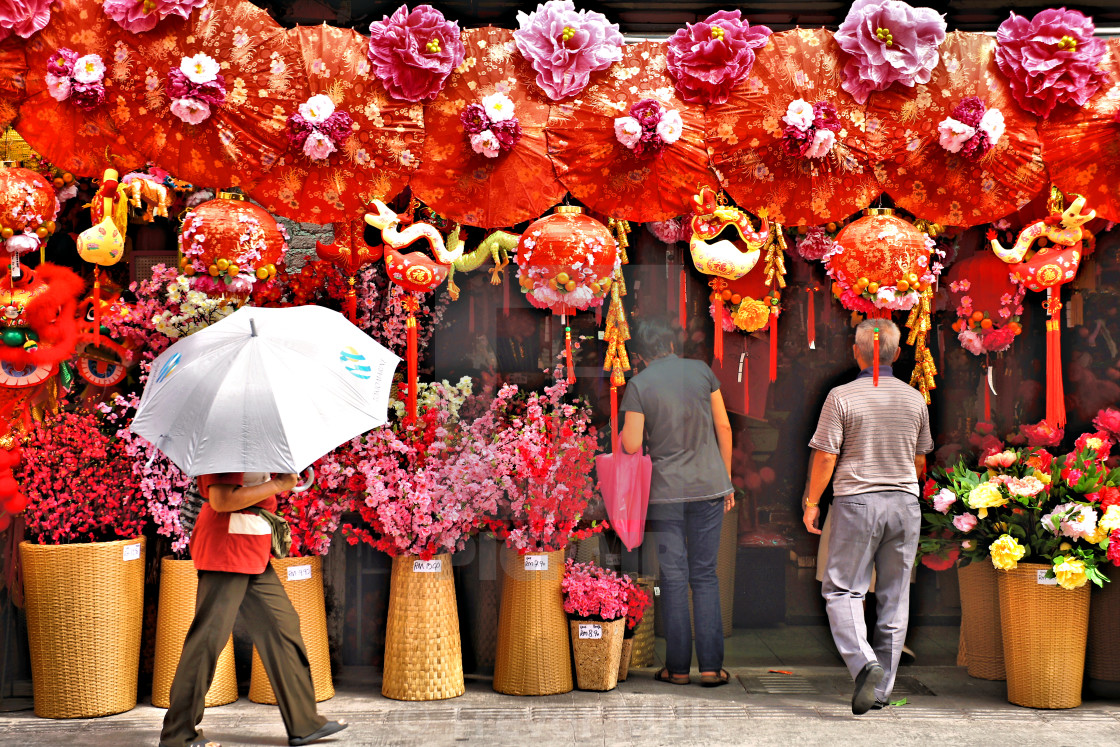 """Chinese New Year umbrella"" stock image"