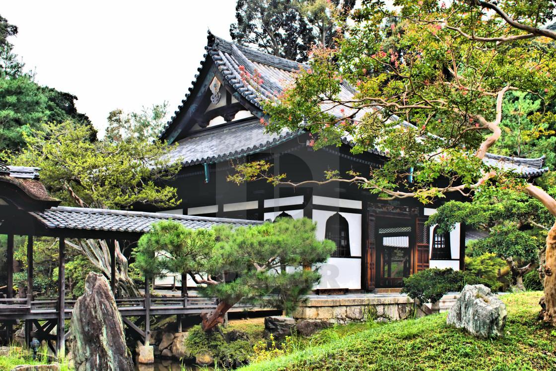 """Hall in Kōdai-ji grounds Kyoto"" stock image"