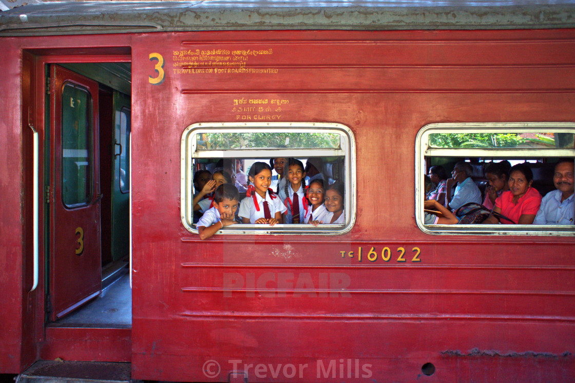 """Sri Lanka Train"" stock image"