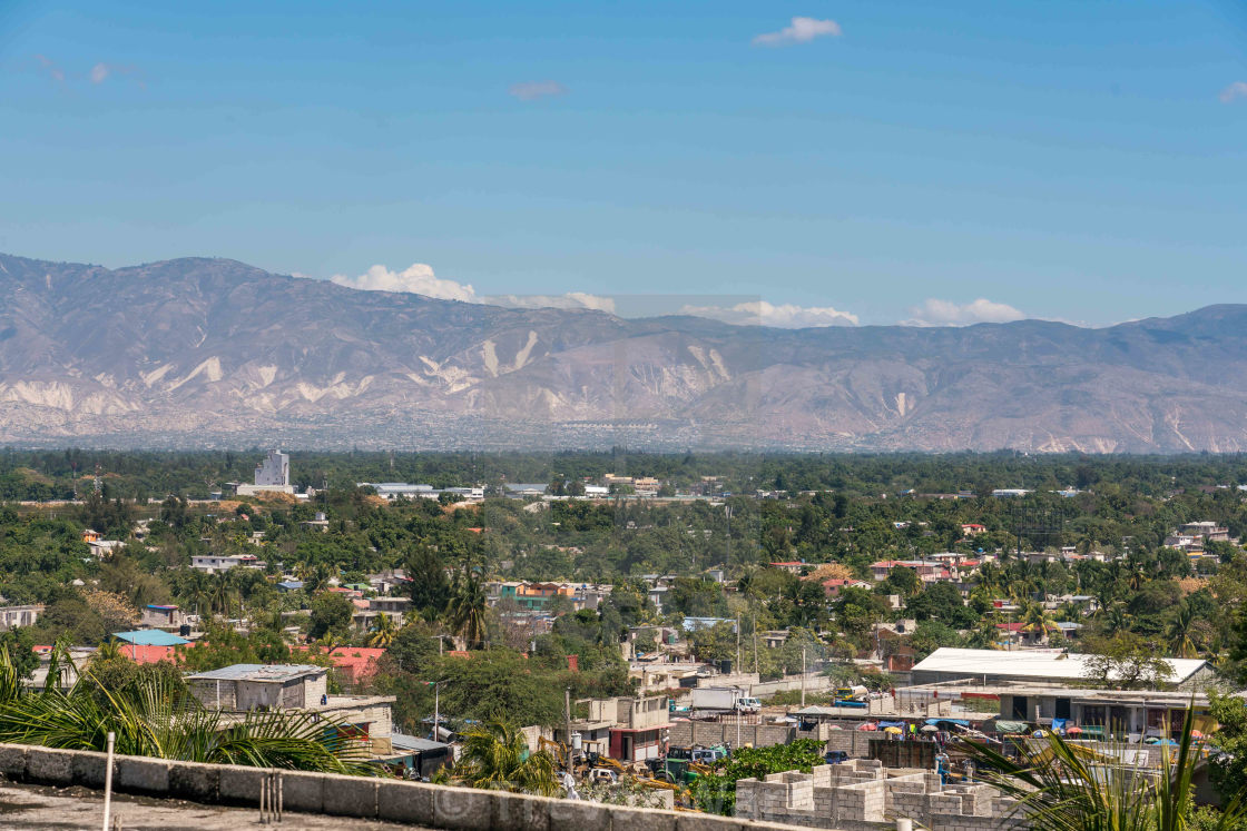 """Valley view of Port au Prince"" stock image"