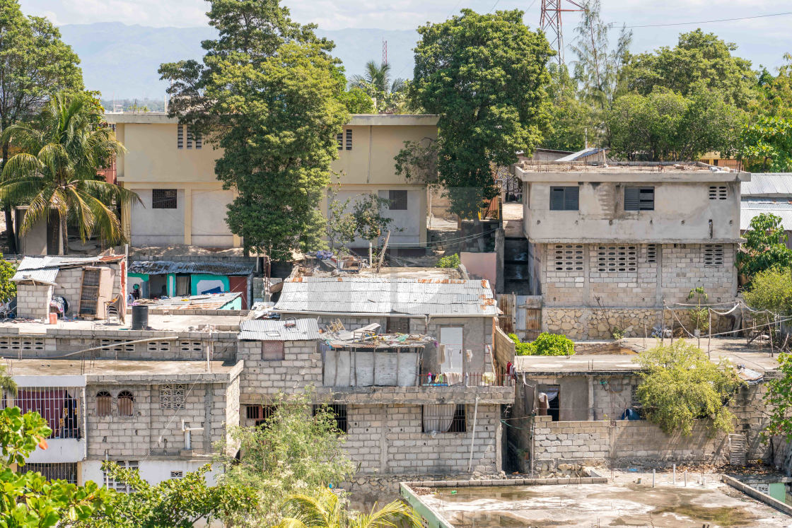 """Port au Prince homes"" stock image"
