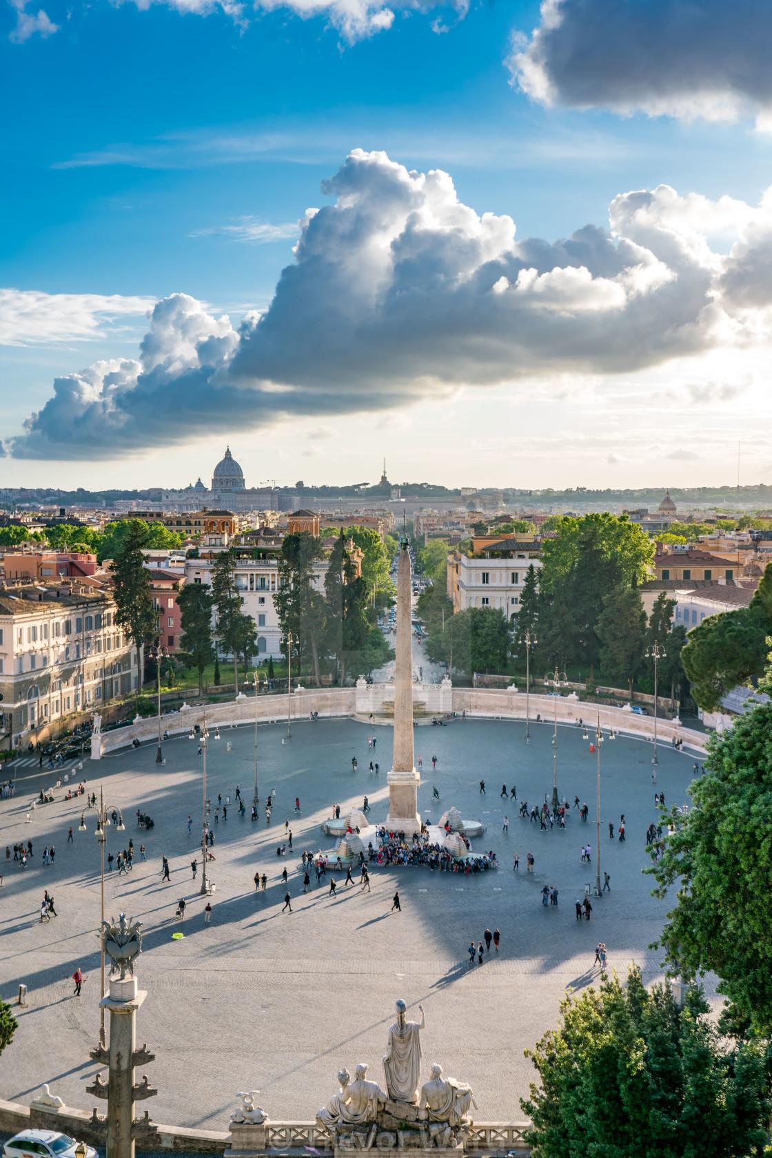 View Of Piazza Del Popolo From Terrazza Del Pincio