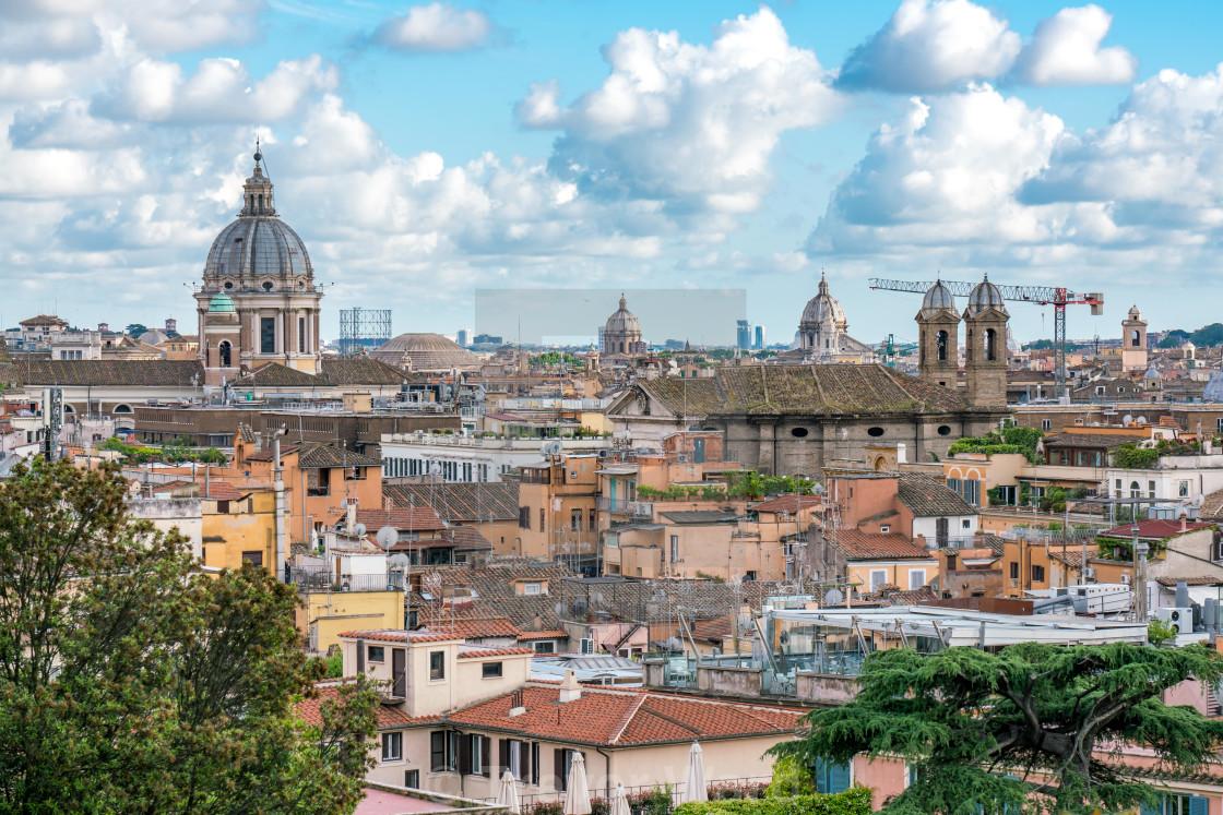 View Of Ancient Rome From Terrazza Del Pincio License
