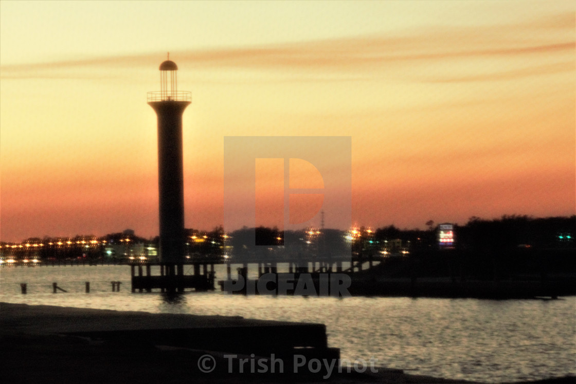 Lighthouse As Sun Sets License Download Or Print For 15 00