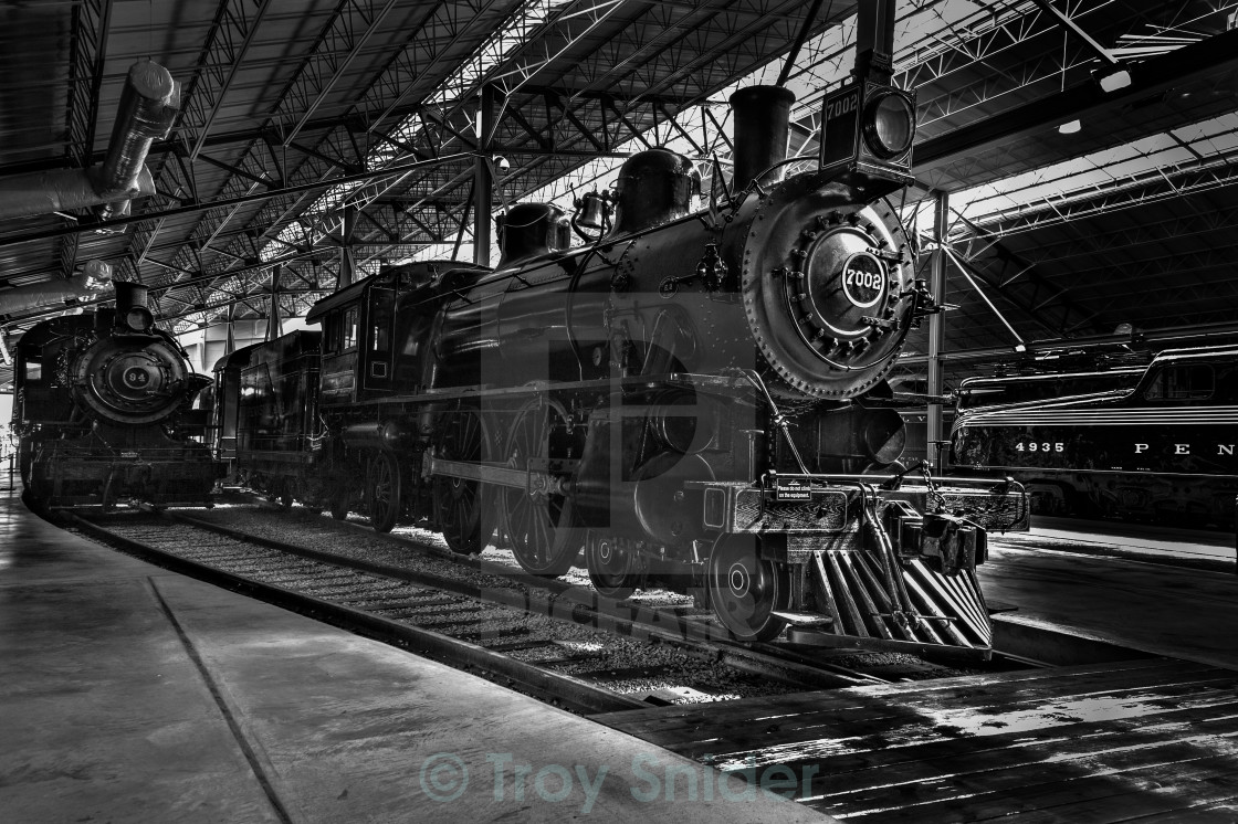 """Old Trains"" stock image"