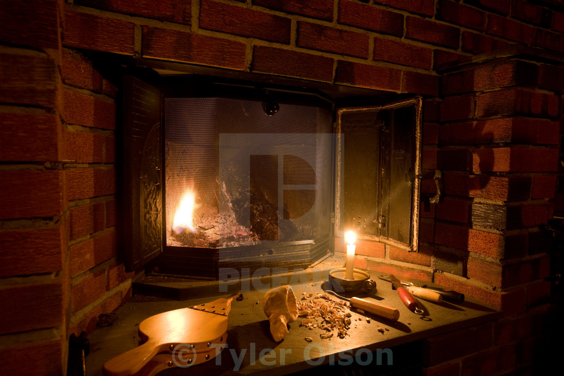 old fashioned fireplace