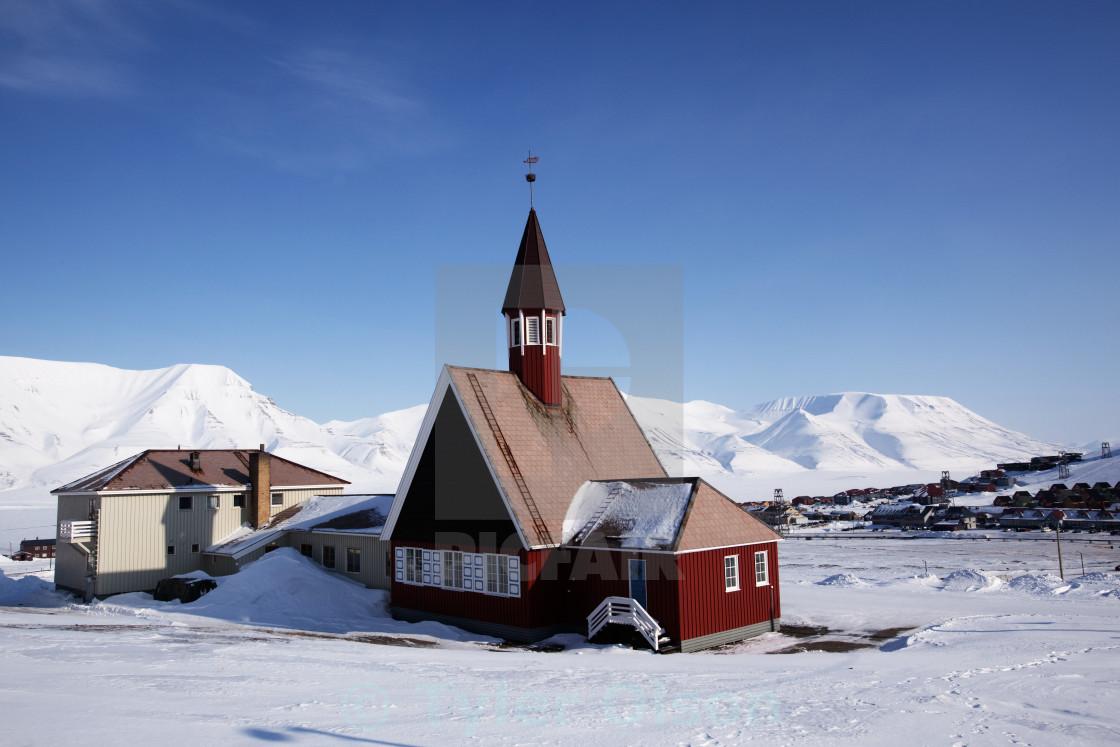 """Longyearbyen Church"" stock image"