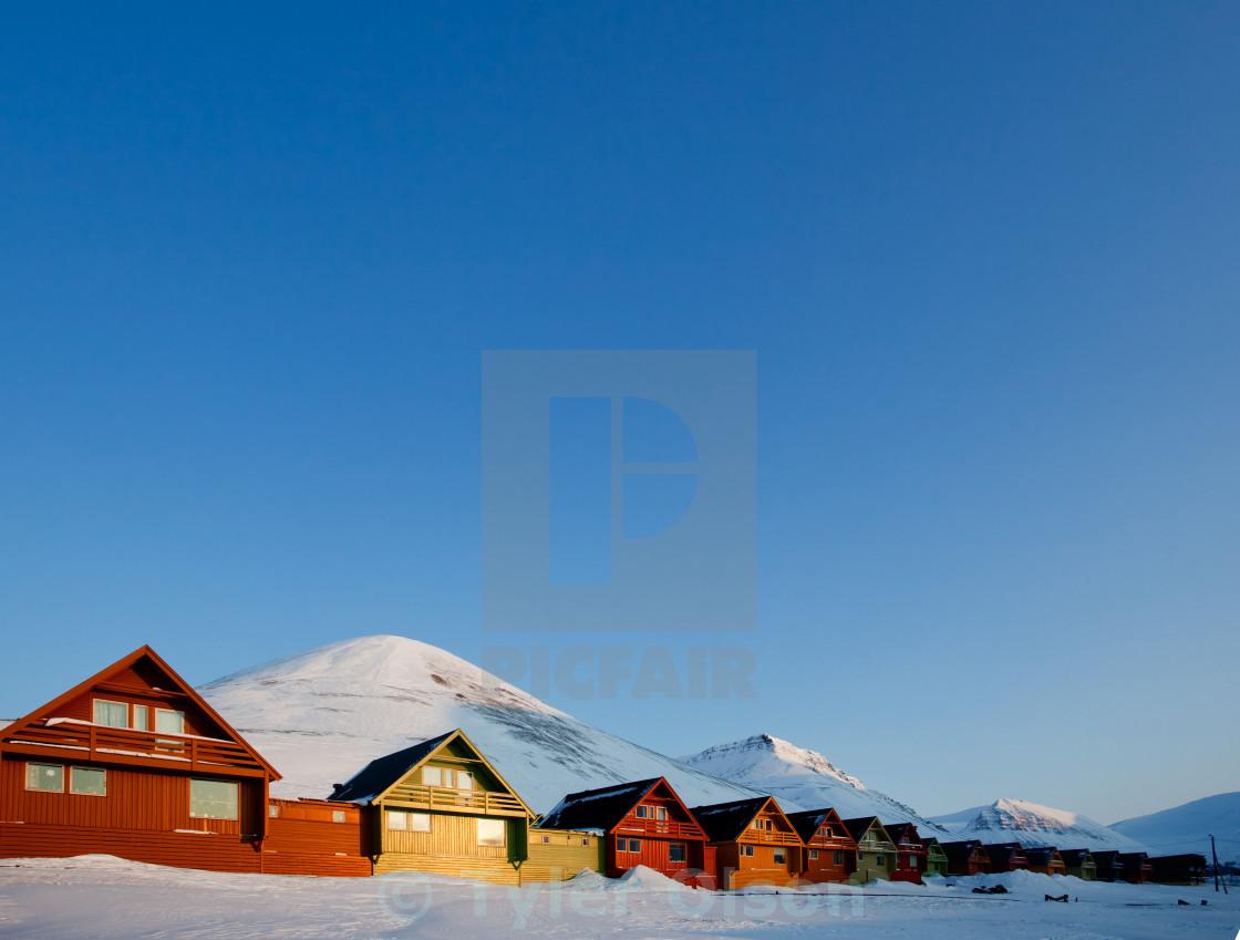 """""""Longyearbyen Sunset"""" stock image"""