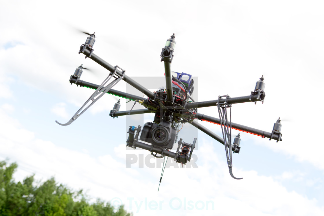 """Multirotor Photography Helicopter"" stock image"