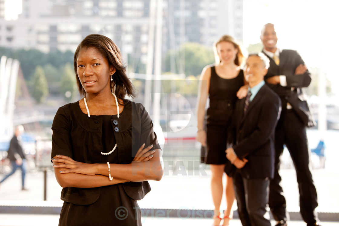 """""""Group of Four Business People"""" stock image"""