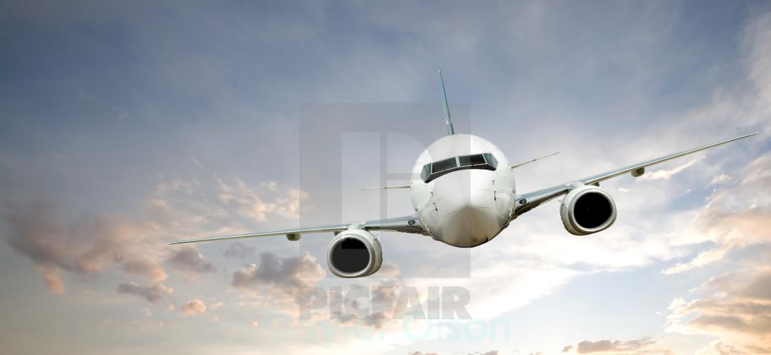 """""""Airplane Flight"""" stock image"""