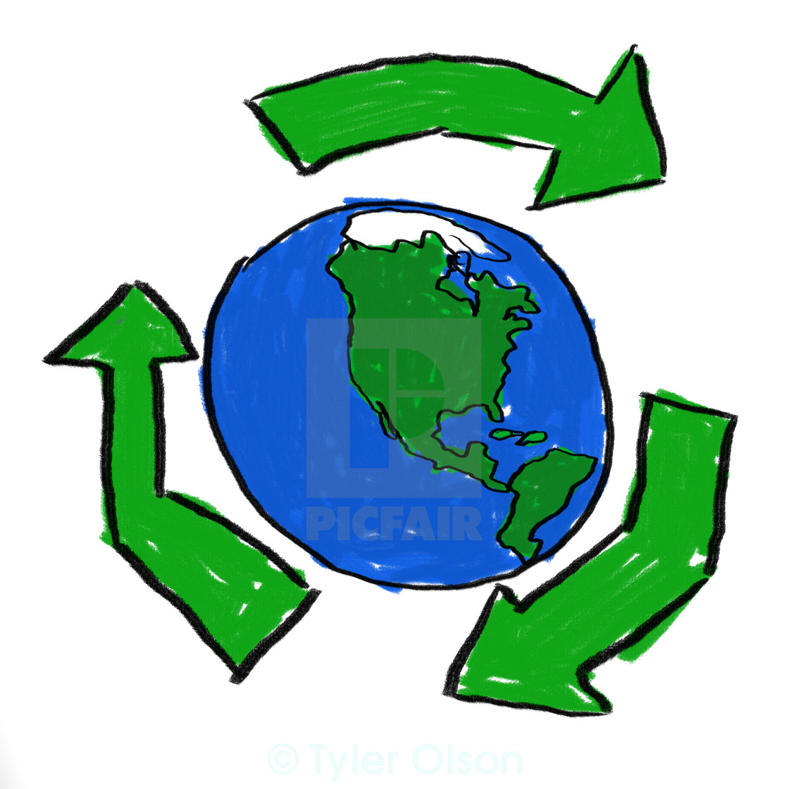 """""""Recycle World"""" stock image"""