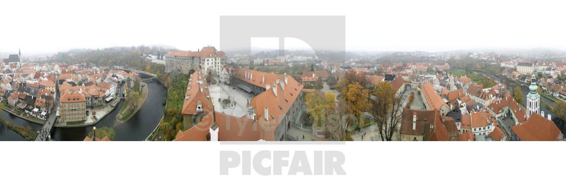 """Czech City Panorama"" stock image"