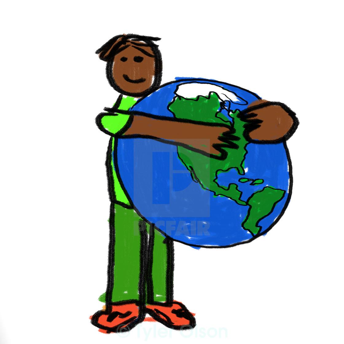"""World Hug"" stock image"