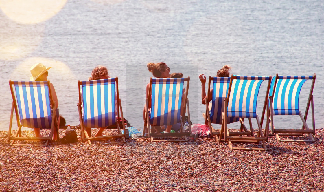 """Summer at the beach in Brighton"" stock image"