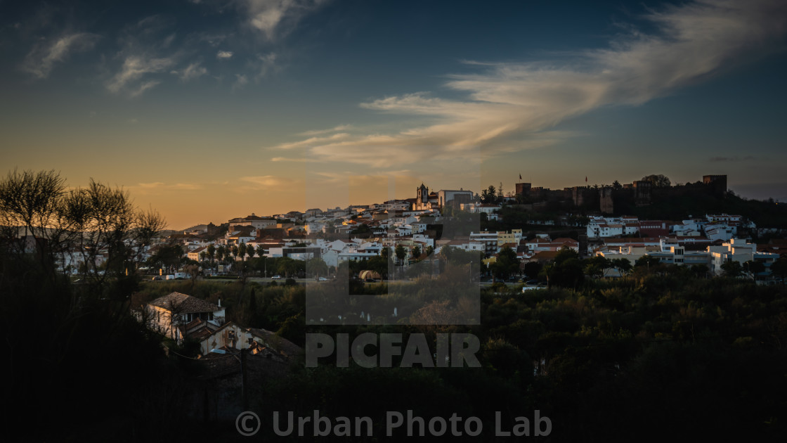 """Silves at sundown"" stock image"