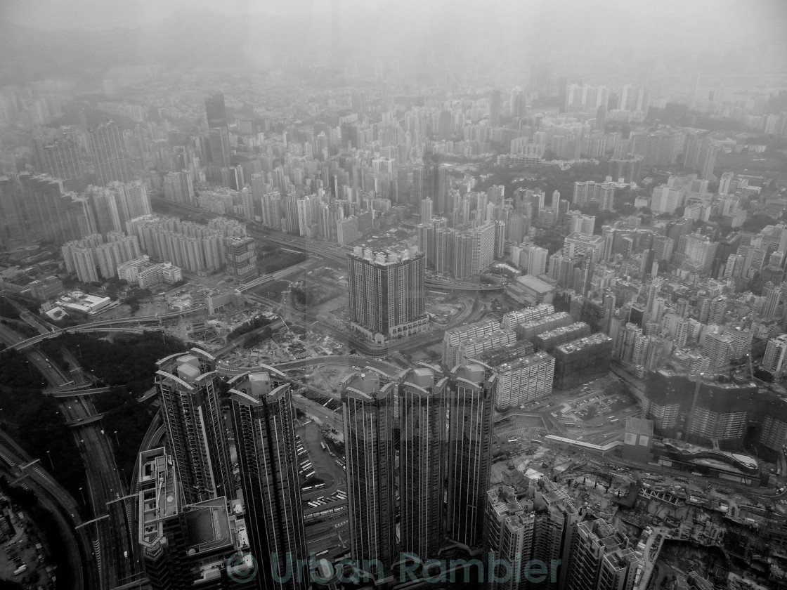 """Low clouds in Hong Kong"" stock image"