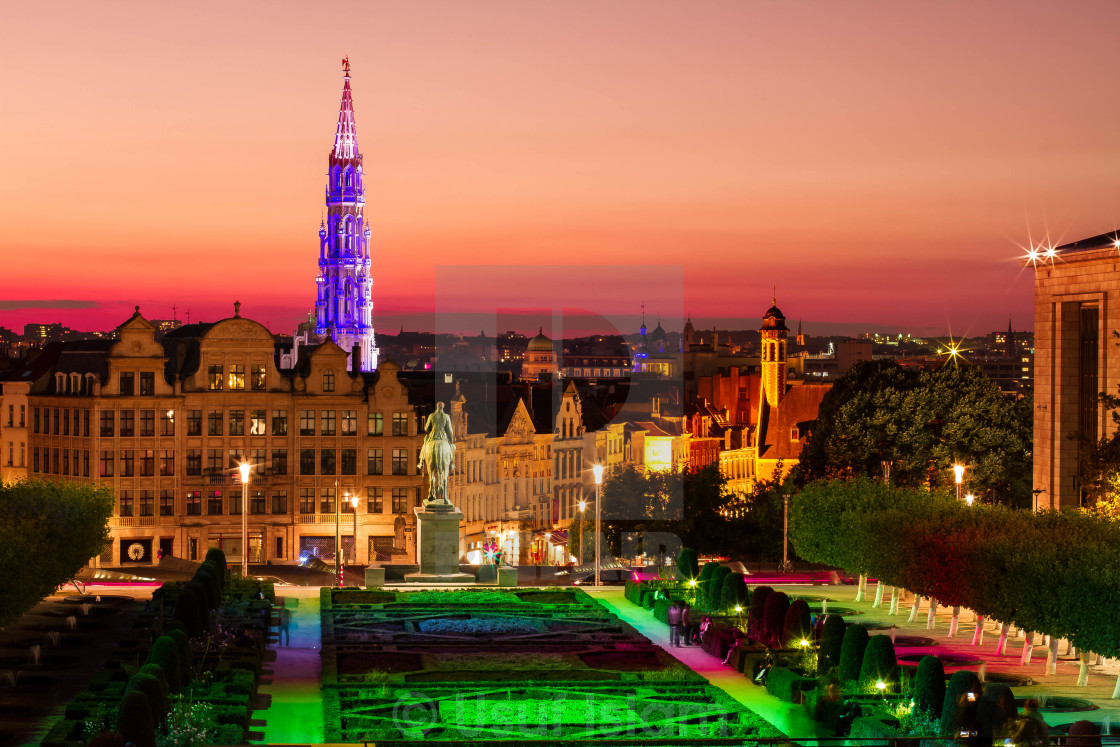 """Brussels at Sunset"" stock image"