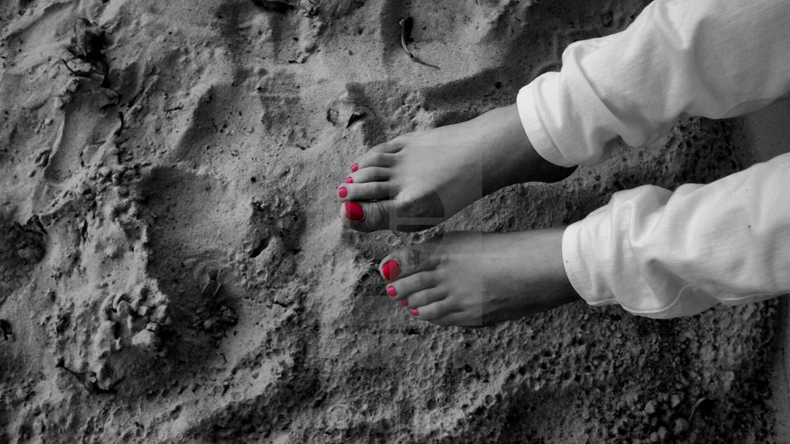 """Arty feet"" stock image"