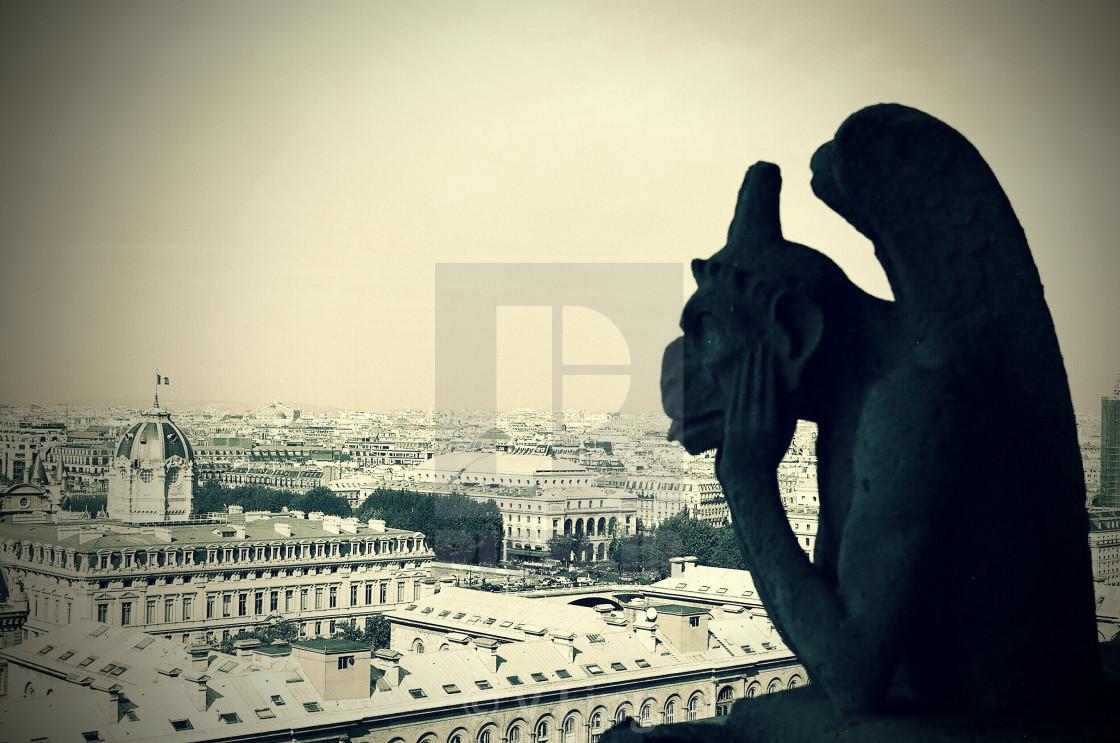 """""""Notre Dame Gargoyle"""" stock image"""