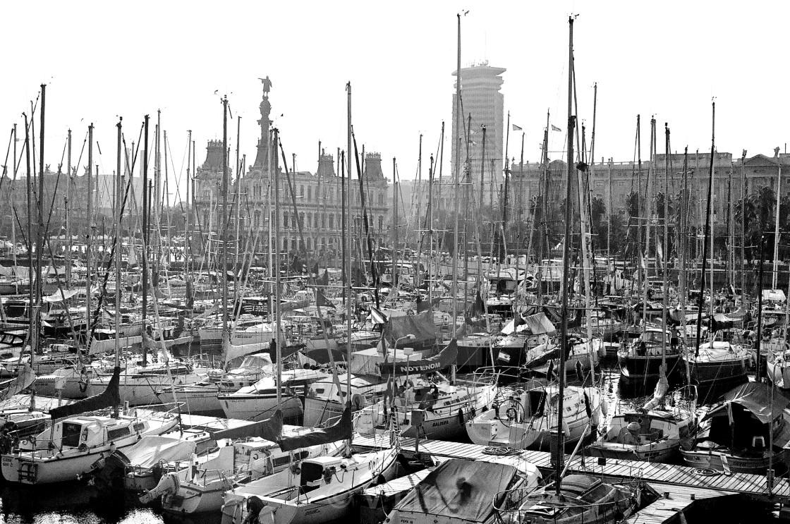 """Barcelona Boats"" stock image"