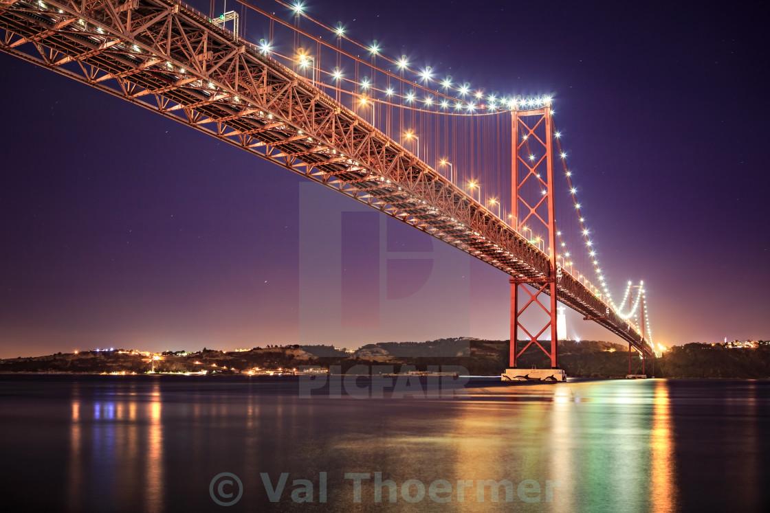 """The Ponte 25 de Abril Bridge"" stock image"