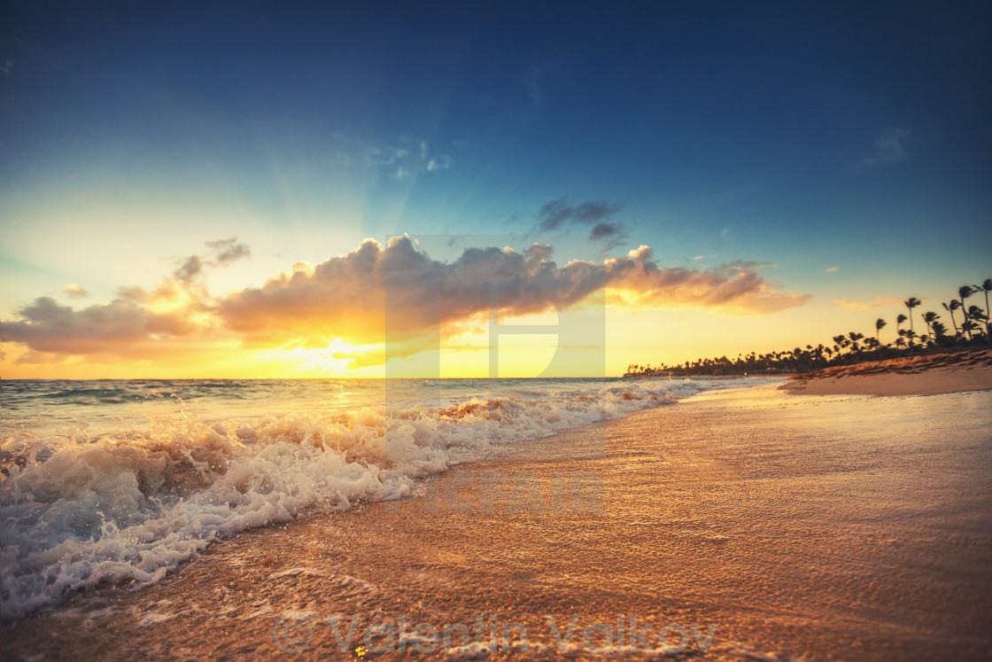"""Exotic Beach in Dominican Republic, Punta Cana"" stock image"