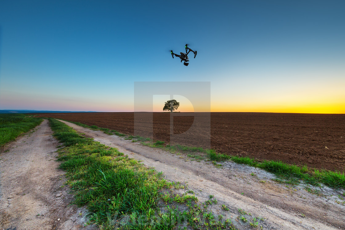 """Varna, Bulgaria - April 21 ,2016: Image of DJI Inspire 1 Pro dro"" stock image"