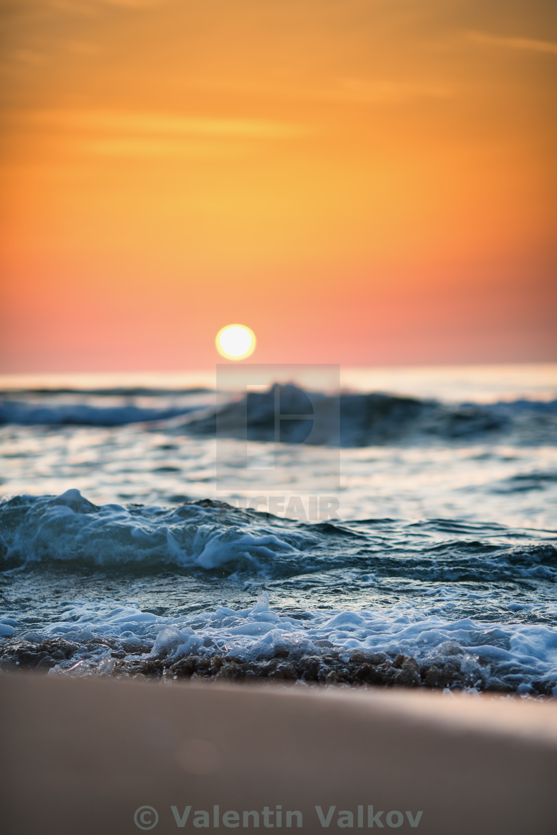 """Sunrise Wave"" stock image"
