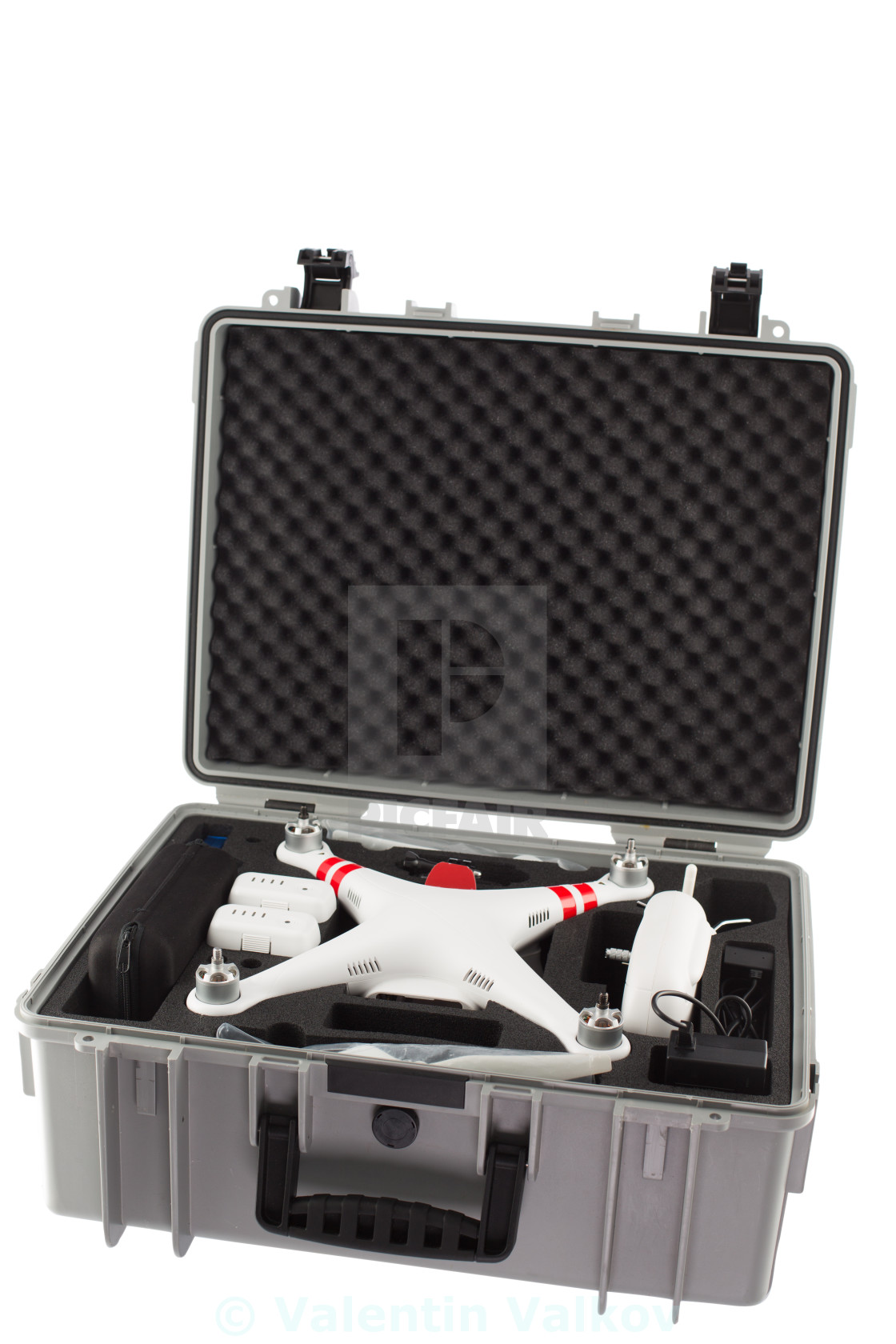 """Little drone isolated over white background"" stock image"