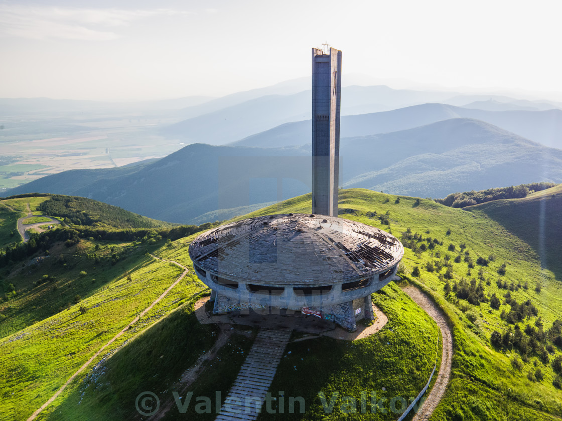 """Comunistical monument in Buzludja, Bulgaria."" stock image"