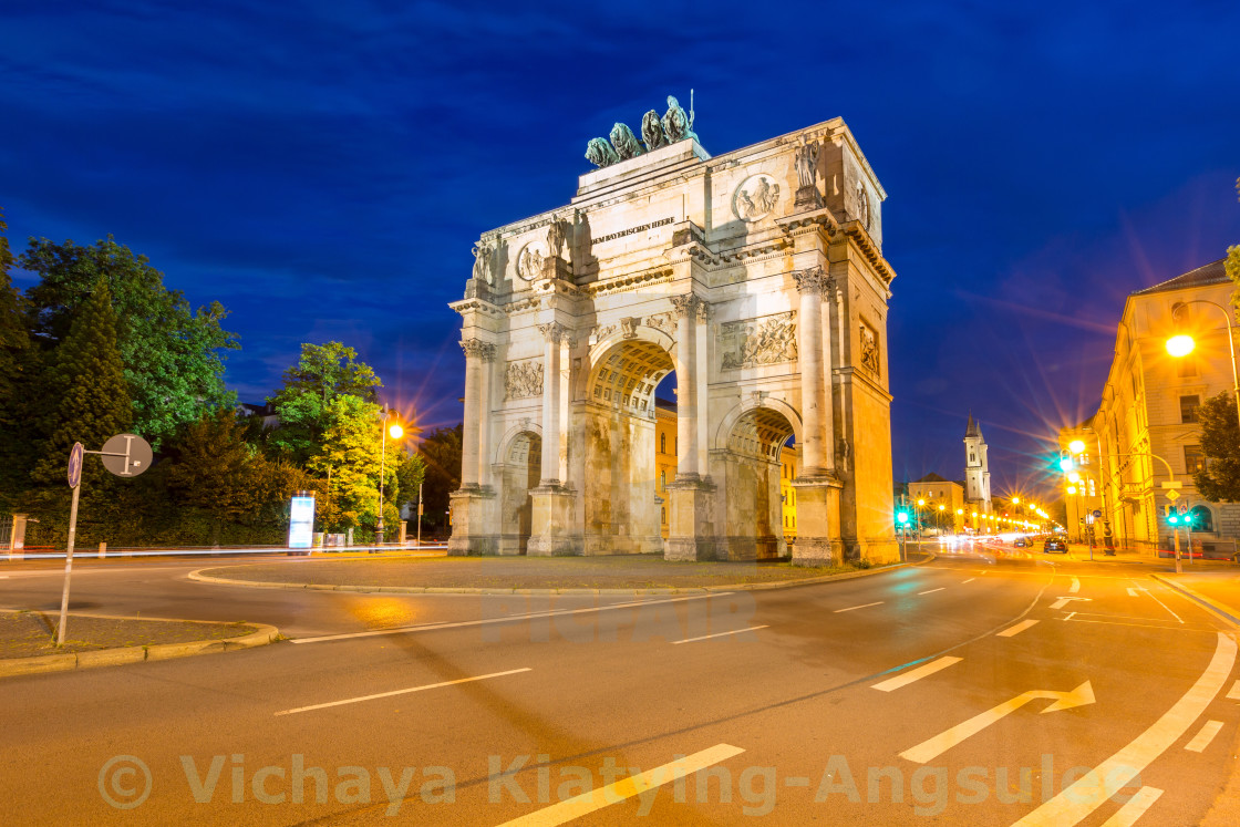 """Siegestor Victory Arch Munich Germany"" stock image"