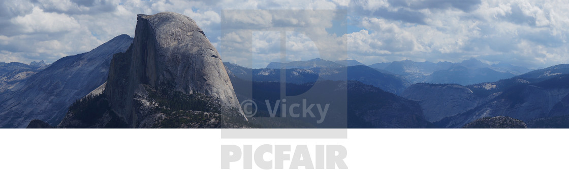 """Half Dome, Panoramic"" stock image"