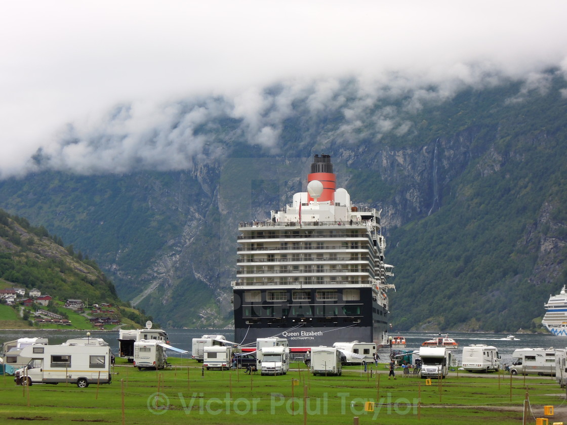"""Queen Elizabeth Liner Goes Camping"" stock image"