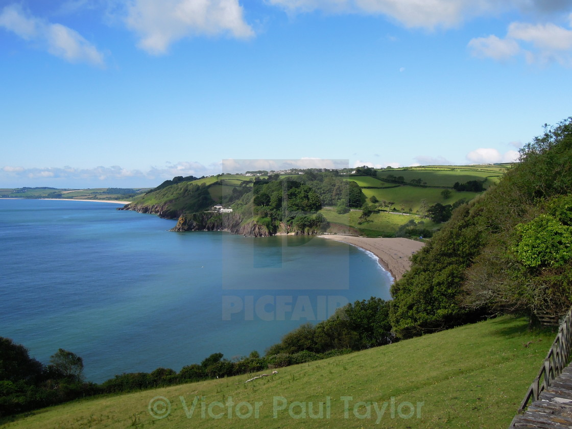 """Blackpool Sands, Devon"" stock image"