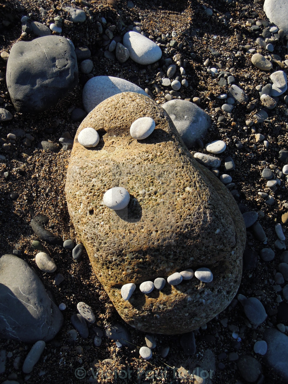 """Rock & Pebble Face"" stock image"
