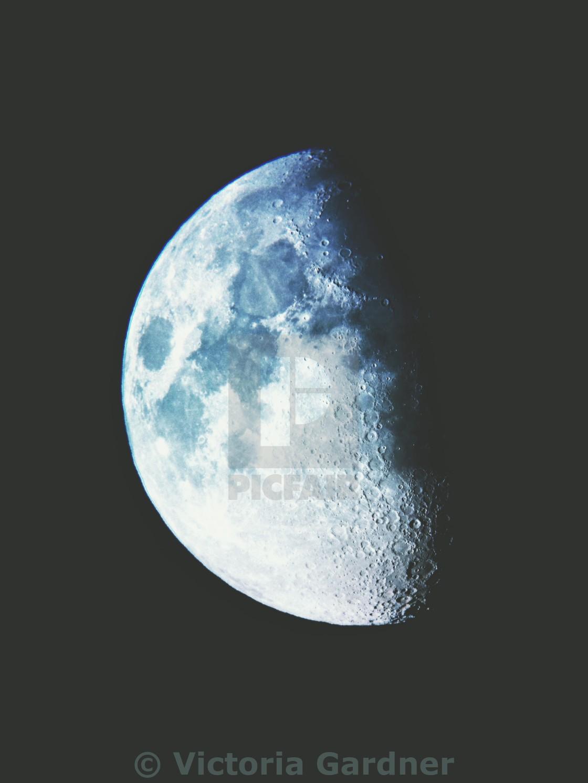 The moon with a colour overlay