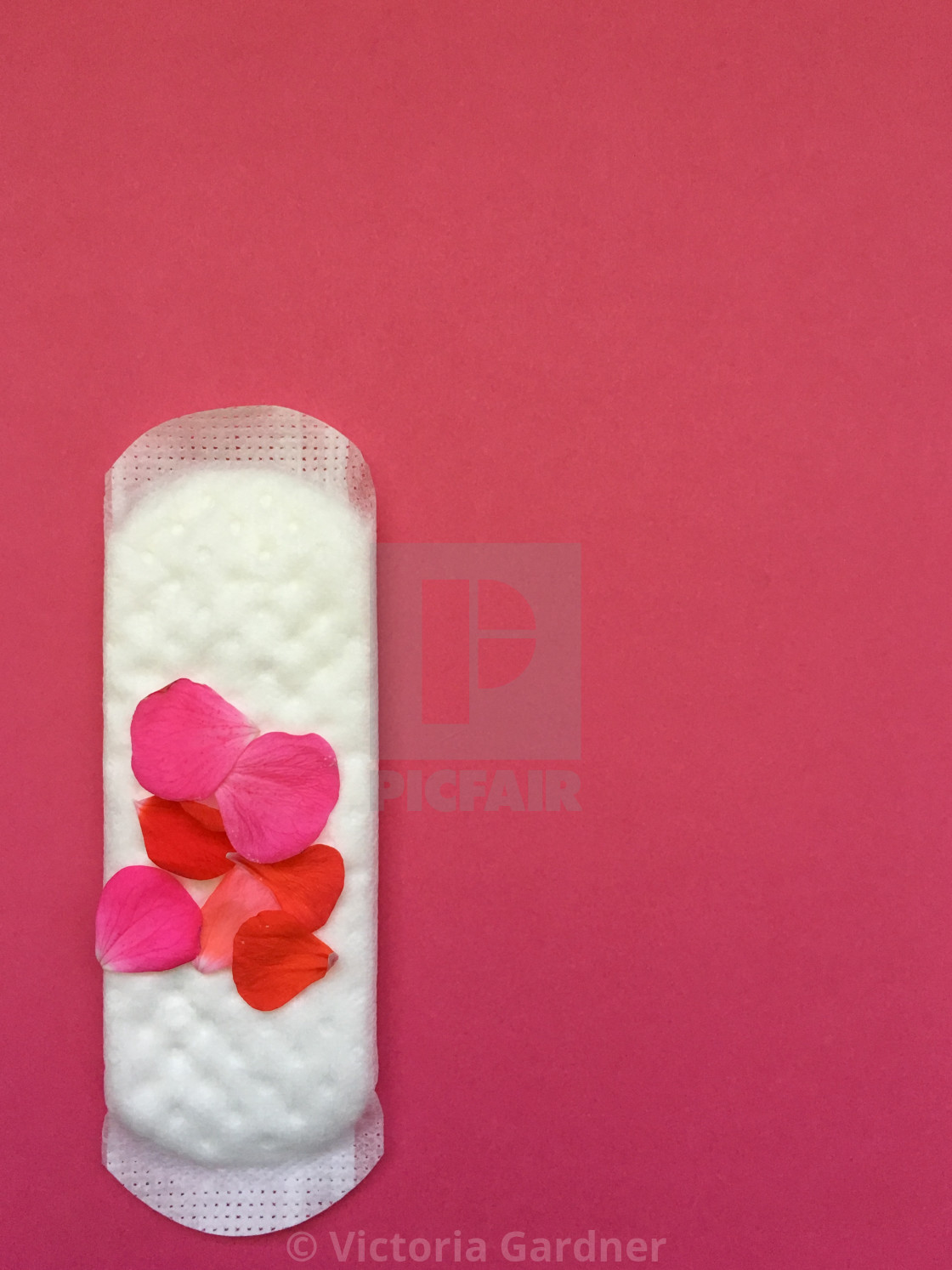 """Concept of sanitary protection for a period"" stock image"