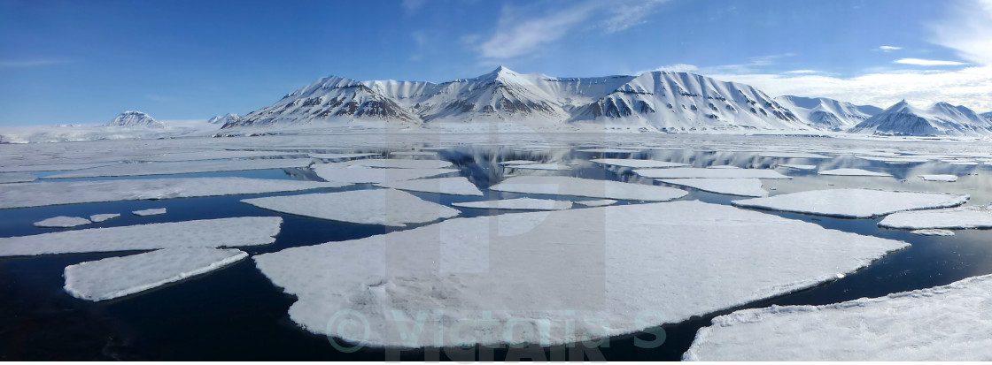 """Ice flows in Svalbard"" stock image"