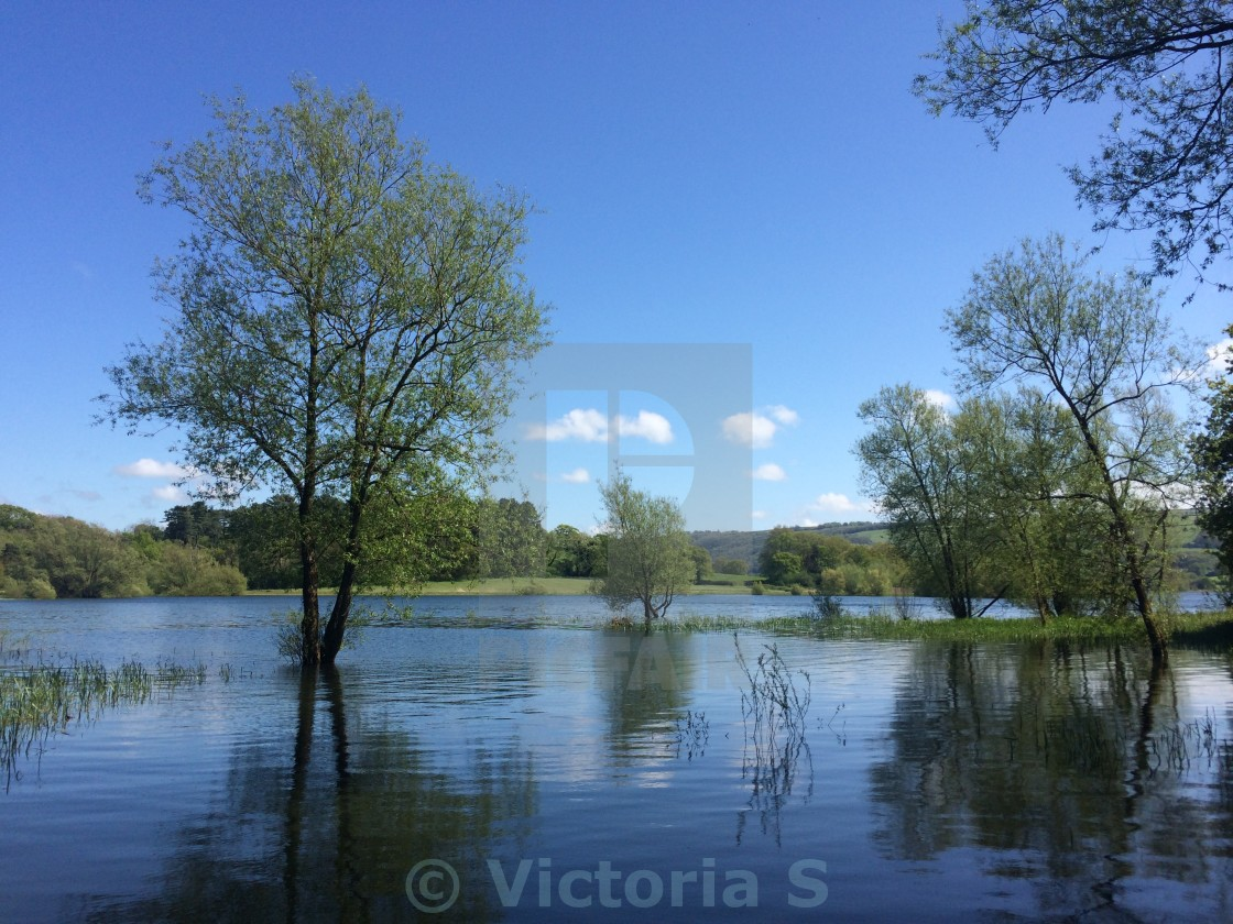 """Blagdon Lake"" stock image"