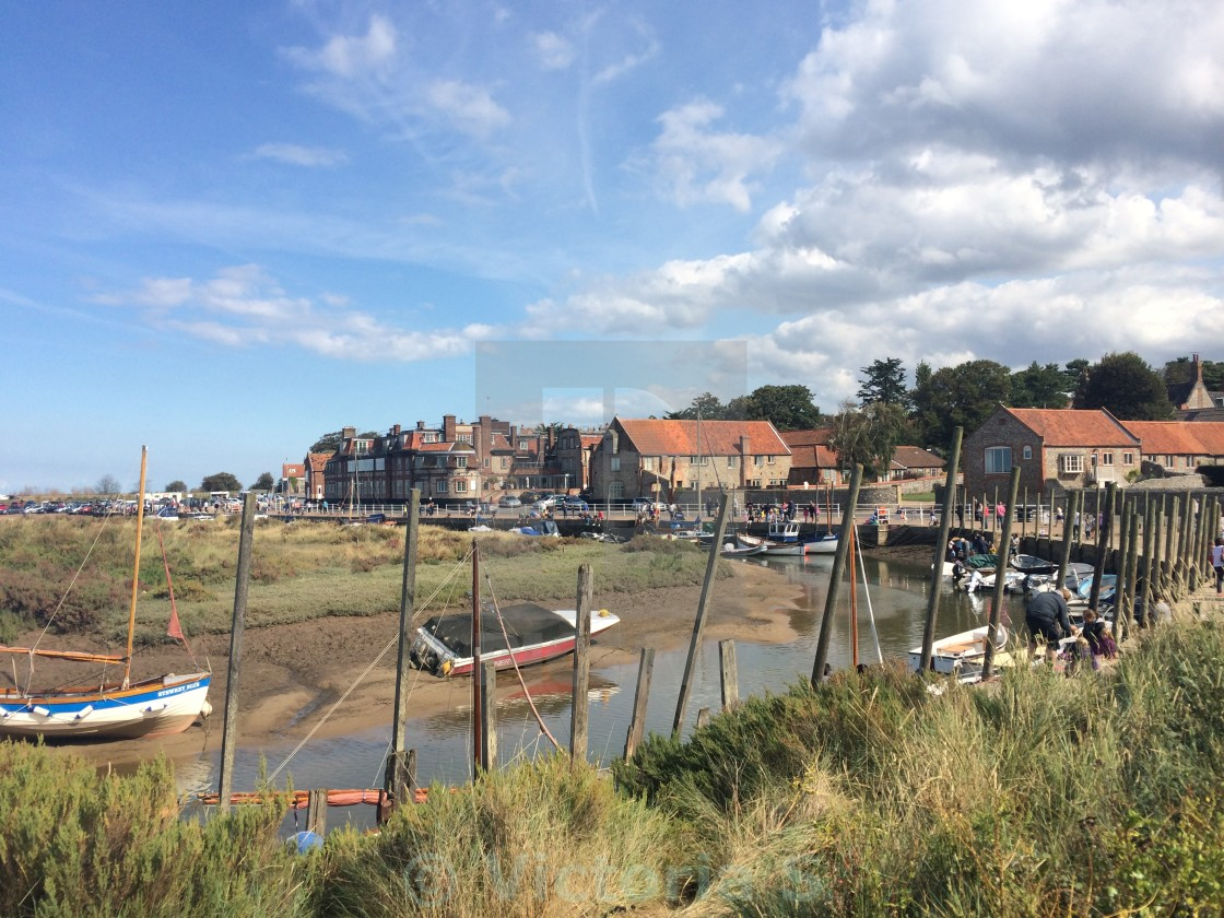 """Blakeney Harbour"" stock image"
