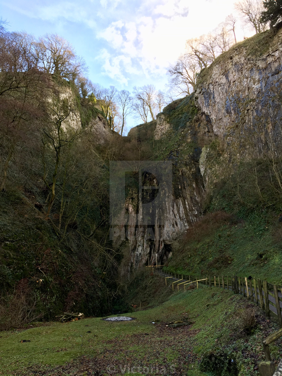 """Peak Cavern (or Devil's Arse) in Castleton, Peak District"" stock image"