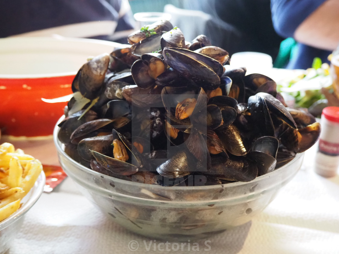 """Moules Marinere"" stock image"