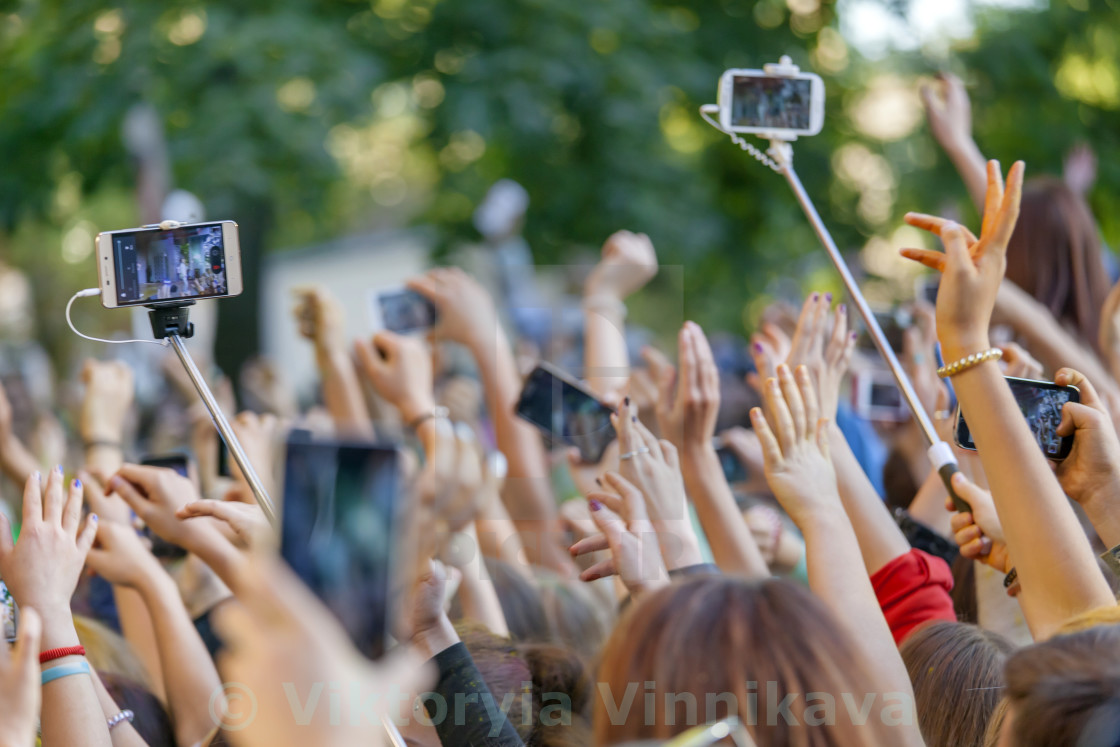 """""""Crowd at the concert"""" stock image"""