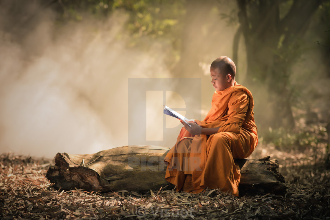 """Novice is learning religion"" stock image"