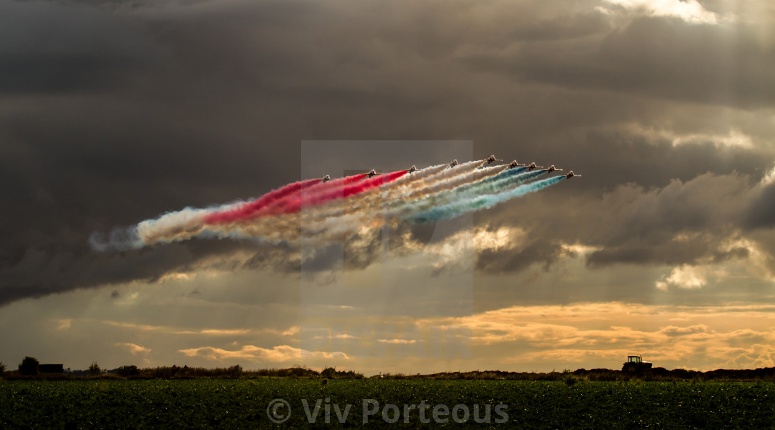 """Red Arrows - after the storm"" stock image"