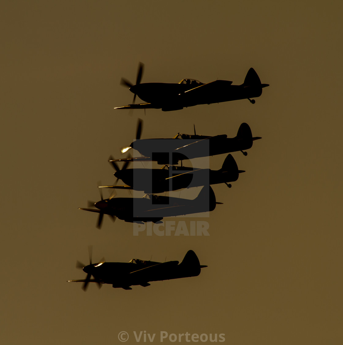 """Spitfires of the BBMF"" stock image"