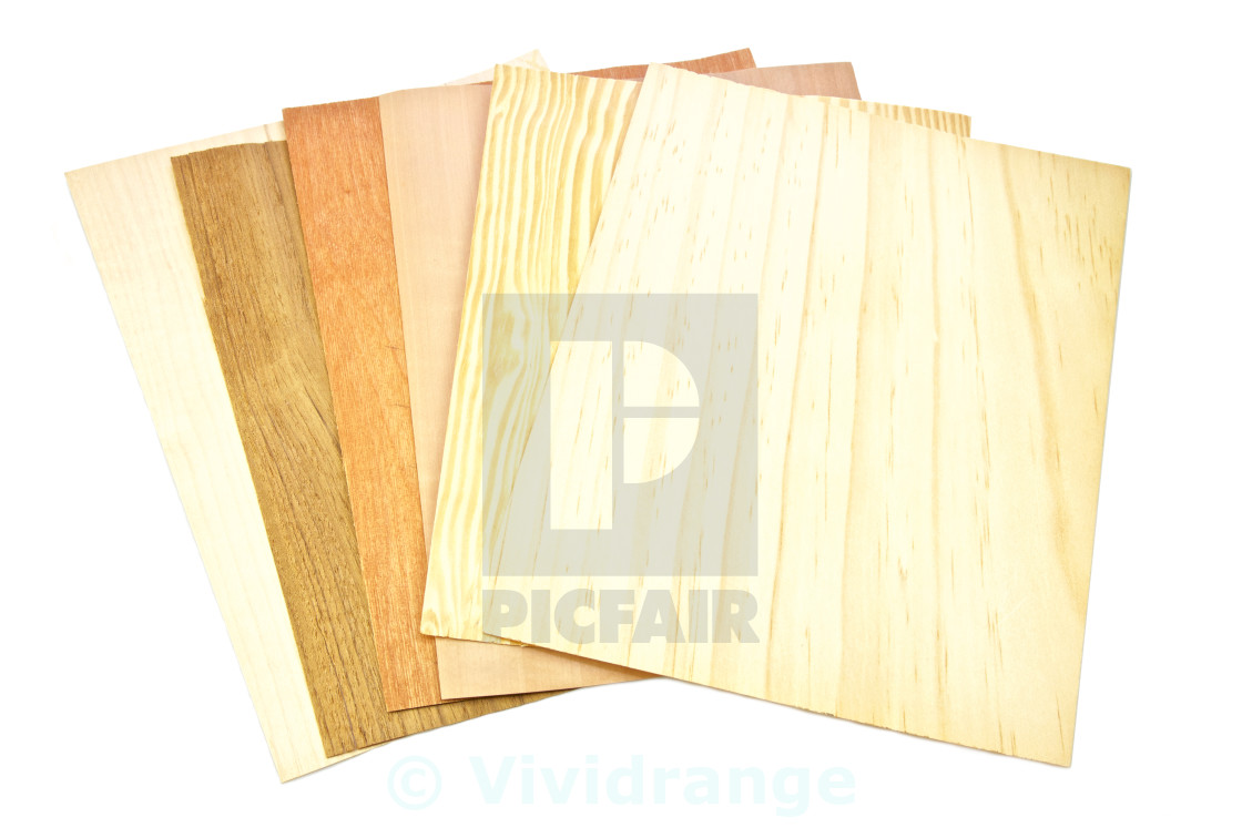 """Wooden samples, isolated"" stock image"
