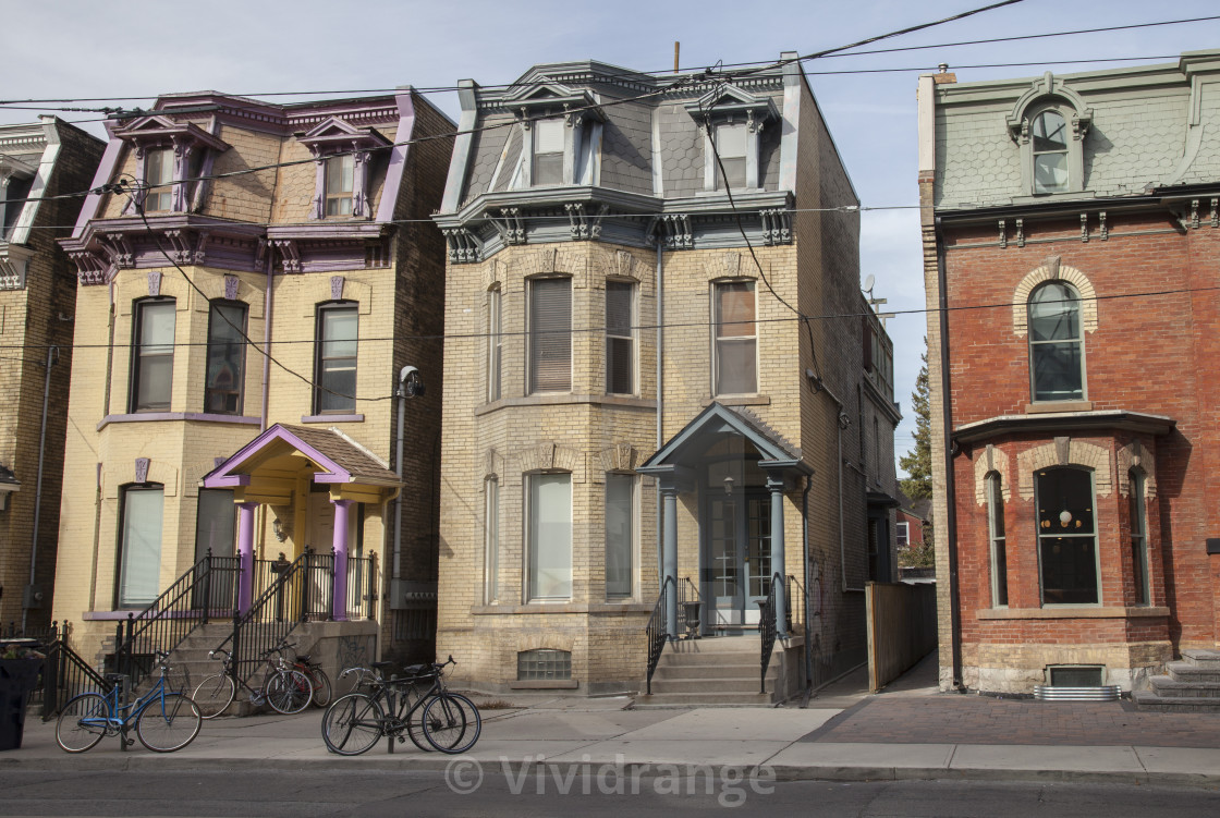 """""""Row of old house, Toronto, Canada"""" stock image"""