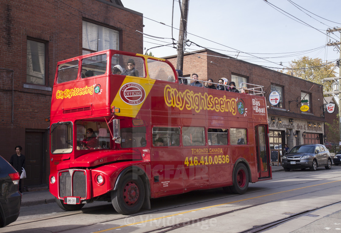 """""""City Sightseeing bus in Toronto, Canada"""" stock image"""